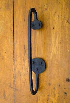 Mid-Late 18Th Cent American Antique Hand Forged Wrought Iron Primitive Door Pull