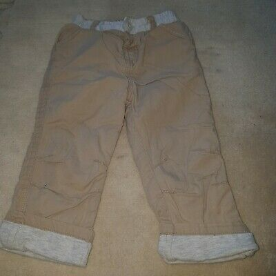 Girls Boys Warm Lined Trousers Size 12-18 Months