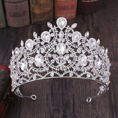 9cm High 6 Colours Crystal Wedding Bridal Party Pageant Prom Tiara Crown