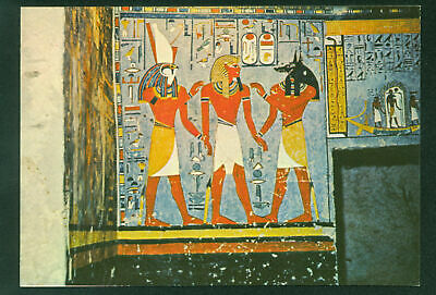 King Led Anubis Harsiesis Tomb King Ramses I Ancient Egytian Egypt Postcard