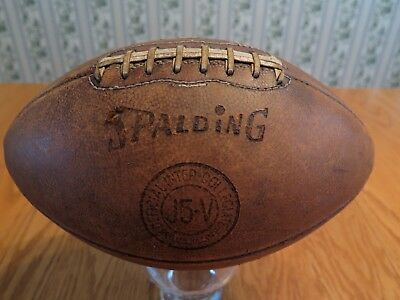 Football Vintage Spalding J5-V Official Intercollegiate WIS. Sports Collectible