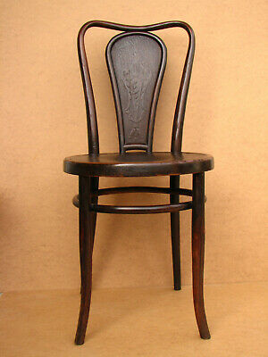 Old Antique Wooden Wood JJ Kohn Vienna Bentwood Chair Cafe Bistro Stool 19th