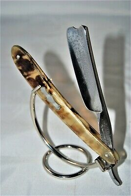 "Restored Vintage Barber's Notched 13/16"" Wade & Butcher straight razor"