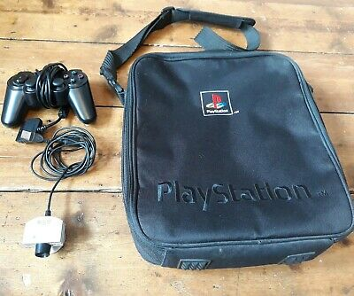 Official Black Sony PS1 Playstation 1 Bag / Carry Case/eyetoy/Controller