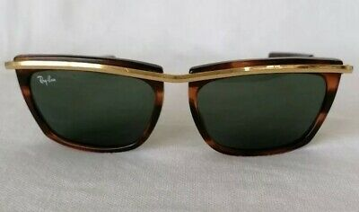 Authentic Vintage B&L Ray Ban USA OLIMPIAN Sunglasses Tortoise Shell And Gold