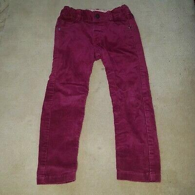 Girls M&S Cords Trousers With Adjustable Waistband Age 2-3 Years