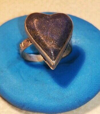 LATE MEDIEVAL SILVERED RING WITH LAPIS LAZULI STONE 3.7gr 18mm inner 15.2mm