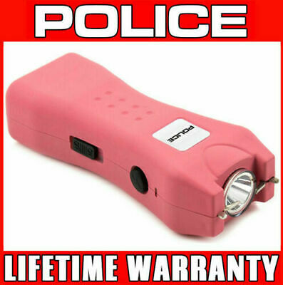 STUN GUN POLICE 618 Pink 160 BV Rechargeable With LED Flashlight + Holster