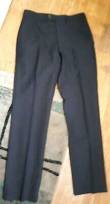 Men's Boys 30x31 M&s Autograph Smart Navy Slim Trousers