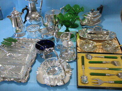 Beautiful Large Job Lot Ornate Antique & Vintage Silver Plated Items & Cutlery