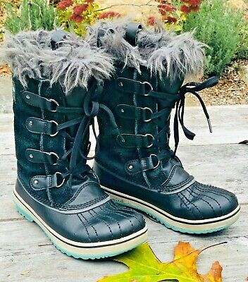 Sorel Girls Youth Winter Lace Boots Waterproof Snow Insulated Lined Size Us 3