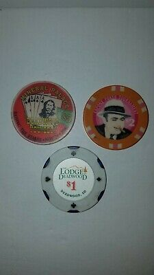 Vintage Cadillac Jack's, Mineral Palace Hotel, The Lodge Casino Chip Deadwood SD