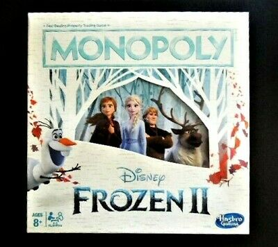 New! Disney Frozen Ii Edition Monopoly Game - Special Components, 6 Metal Tokens