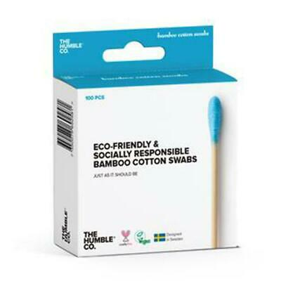 💚 Humble Brush Natural Bamboo Cotton Swabs Blue 100 pieces