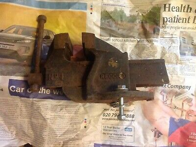 "Record No. 1 Engineers Mechanics Bench vice England 3"" 75mm jaws"