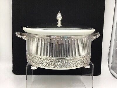 Reed And Barton Renaissance Pattern #1174 Silverplate Covered Footed Casserole