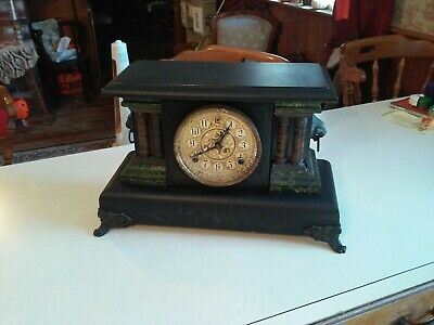 Antique Sessions Beautiful 8 Day Mantle Clock Running