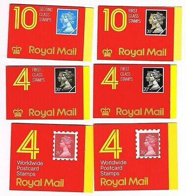 Great Britain 9 booklets, 50% face value. (stgb1)