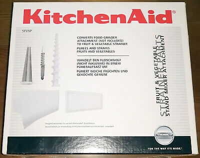 KitchenAid Fruit and Vegetable Strainer Kit (5FVSP) - New