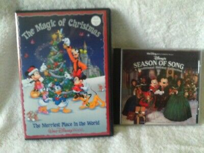 The Magic of Christmas at Walt Disney World DVD & Disney World Christmas CD Lot