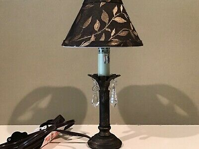 Small Metal Palm Tree Table Lamp With Leaf Shade 14 99