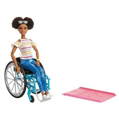 New Barbie Wheelchair And Fashionista Doll Brunette 2019 Girls Toy