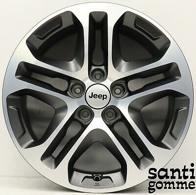 "4 Jantes en Alliage Nouveaux 17 "" Jeep Renegade Compass Original Anthracite"