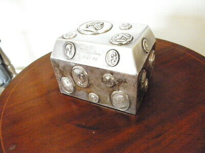 Tiffany & Co. Sterling Silver Medallion/Coin Lidded Box