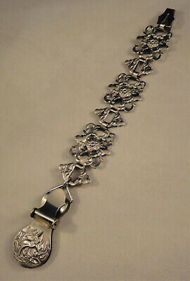 Silver Plated Victorian Aesthetic Movement Patent Chatelaine Skirt Lifter
