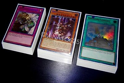 Yugioh Complete Darklord Deck! Ixchel Nasten Amdusc Rebellion Allure of Darkness