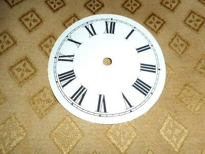 "Round Paper (Card) Clock Dial - 3 1/4"" M/T - Roman - GLOSS WHITE - Parts/Spares"