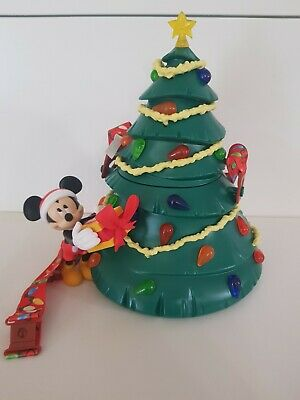 Disney Parks 2019 Christmas Holiday Mickey Light-Up Tree Popcorn Bucket