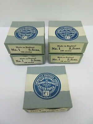 W&R Balston Genuine Whatman Filter Paper No.1 5.5cms Lot of 5 Boxes 500 Circles
