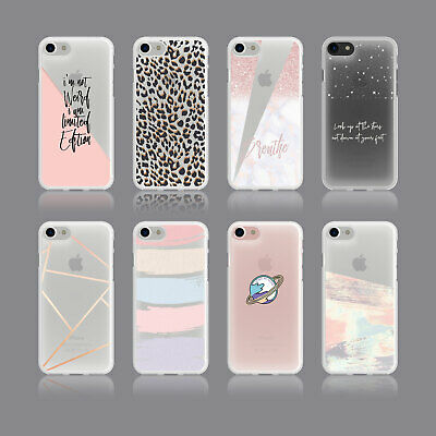 Glitter Planet Space Animal Print Stars Quote Soft Phone Case For Iphone Samsung