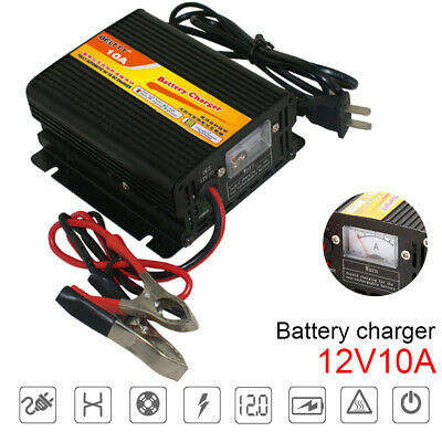 10A 12V-14.7V 250W Battery Charger with Current Indicator Status Indicator