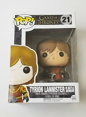 Vaulted Funko Pop! Tyrion Lannister w/ Scar & In Battle Armor Game of Thrones