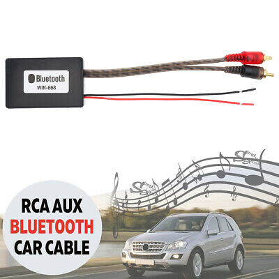 Car Bluetooth Wireless 2 RCA AUX Adapter Auto Audio Input Wireless Cable Tooling