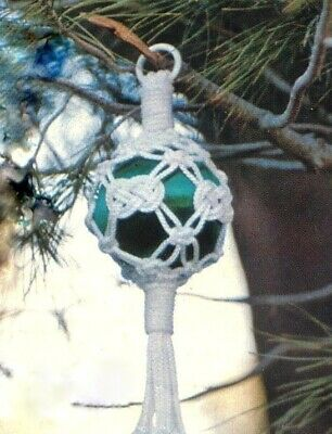 Make This Vintage Macrame Christmas Ornament - Pattern In Pdf Format
