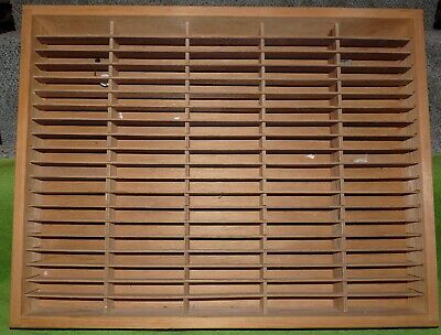Napa Valley Box Company Wood 100 Slot Cassette Tape Rack With Hanger Wire