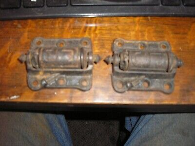 2 STOVER MFG. Co. Spring Loaded Screen Door Hinges No. 10A