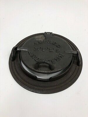 Rare Early VTG or Antique Alfred Andresen Cast Iron Ornate Cookie Wafer Press
