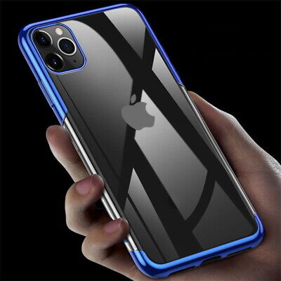 Ultra-thin Plating Clear Soft Case Cover For iPhone 11 Pro Max XS XR 8 7 6 Plus