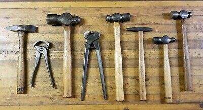 ANTIQUE BLACKSMITH Iron Forge Hammers • Ball Pein Anvil Nippers Tongs Tools ☆USA