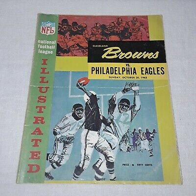 Cleveland Browns Vs Philadelphia Eagles Nfl Football Program October 20, 1963
