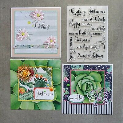 Shopaperartz SENTIMENT ALL OCCASION CLEAR SILICONE STAMP SET 11 PCE BIRTHDAY