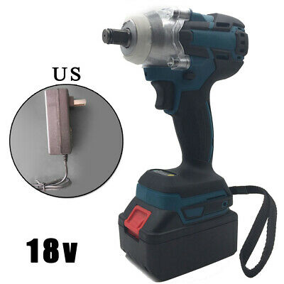 "Electric Impact Wrench Driver 18V 1/2"" 520Nm Torque Brushless Cordless + Battery"