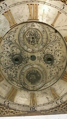 Antique-Brass-Grandfather Clock Dial-Ca.1900