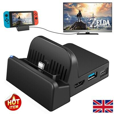 Cooling For Nintendo Switch NS HDMI 4K Adapter TV Charger Charging Dock Stand HH