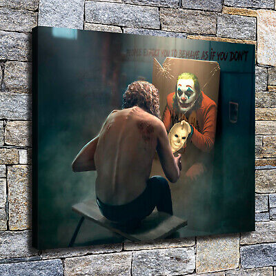 "12""x16""Horror Clown poster HD Canvas prints Painting Home Decor Picture Wall art"