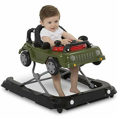 3-in-1 Baby Walker Classic Jeep Wrangler Ride on, Walker & Push-behind